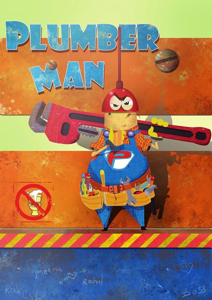 The Plumber Man, Neil gurung on ArtStation at https://www.artstation.com/artwork/the-plumber-man