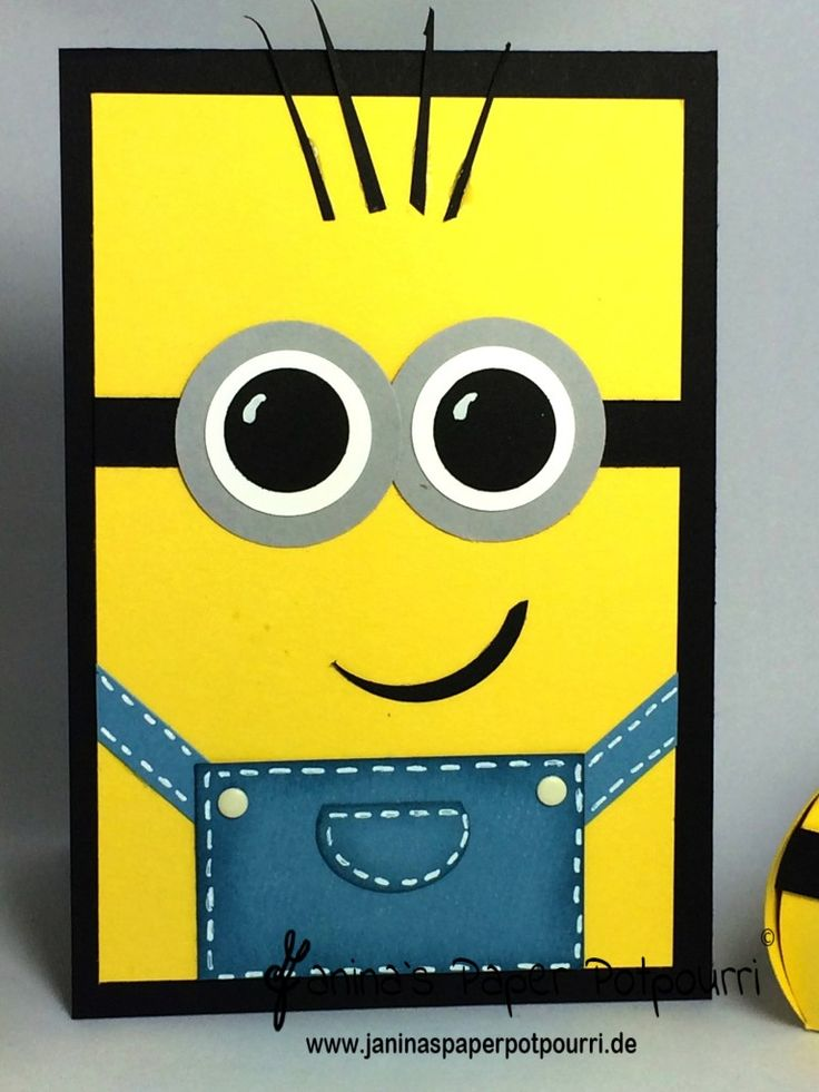 jpp - Minion Birthday / Minions Card / Stampin' Up! Berlin   www.janinaspaperpotpourri.de