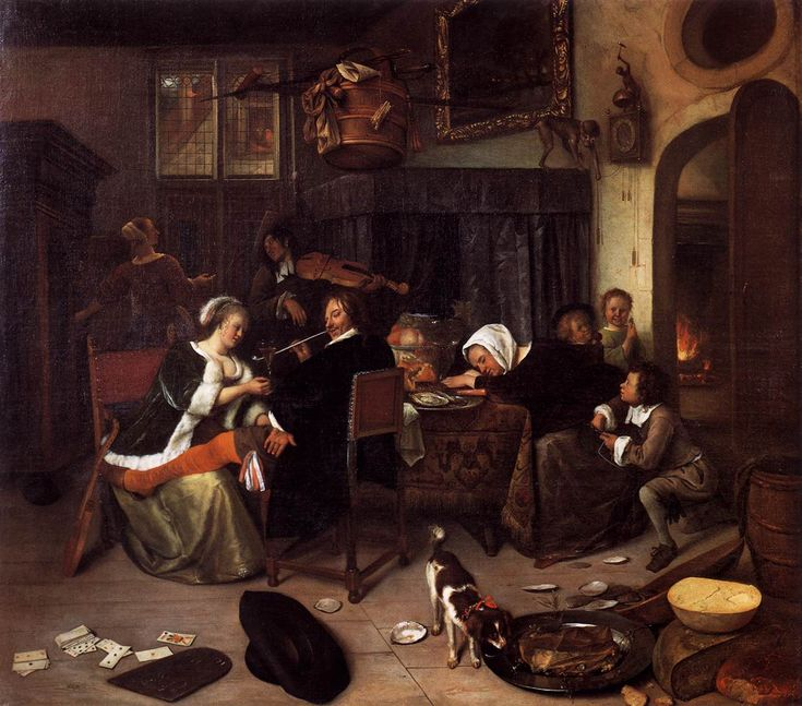 Jan Steen - The Dissolute Household, 1661-64.