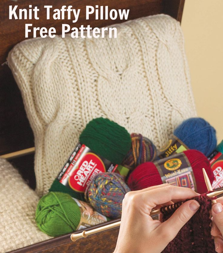 Create a Knit Twisted Taffy Pillows with this FREE Pattern.   Knit Pattern Free