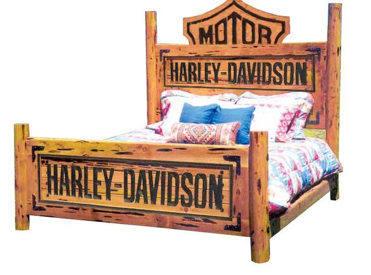 Harley-Davidson Custom Bed | Harley Bedroom Furniture Theme Decor Ideas Harley Bedroom Furniture