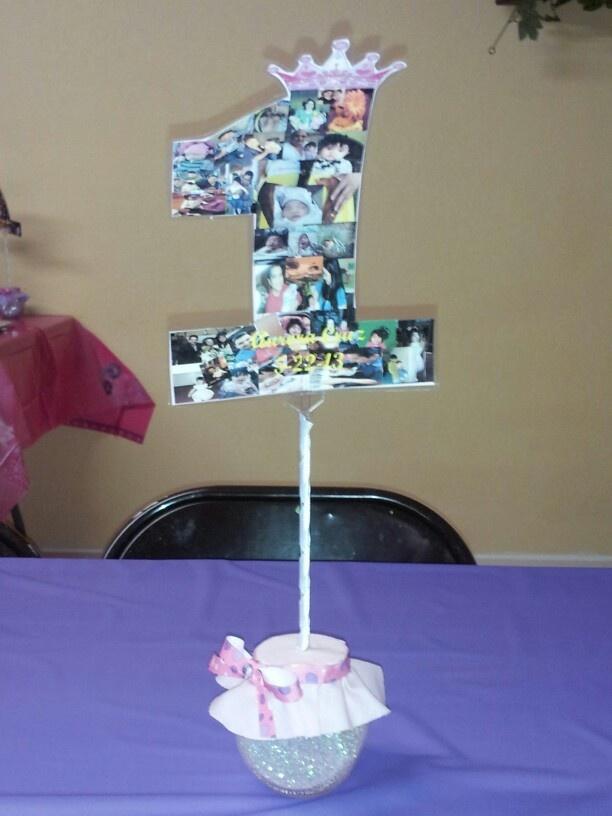 DIY 1st Birthday Centerpiece