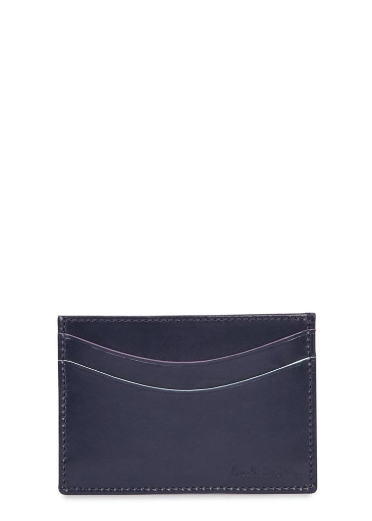 Paul Smith Accessories navy leather card holder