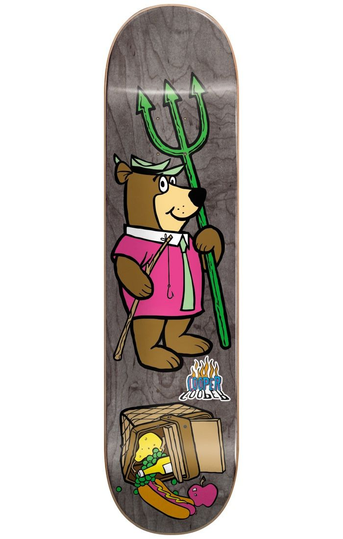 #Almost Skateboards Almost Yogi Bear Picnic R7 Skateboard Deck - #Almost and Hanna-Barbera have joined forces in an eye-popping spinoff to help skaters, young and old, relive their youth! With their colourful, stained background and clean-cut graphic, iconic cartoons from the 90s are brought back to life so that you can skate together with your favourite characters! Afterall, like skating, who doesnt love cartoons?!Check out this board, its super duper! Its the Yogi Bear board for Almosts…