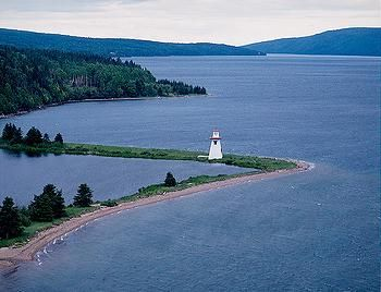 Bras d'Or Lakes, Cape Breton Nova Scotia #capebreton #lighthouse #novascotia