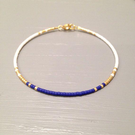 Azul de cobalto de pulsera pulsera moderna pulsera oro