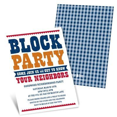 50 best BLOCK PARTY images – Block Party Invites