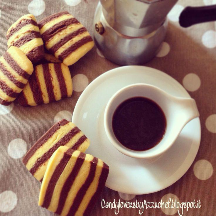 Biscotti bicolore, cookies bicolor