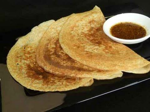 Oats Dosa Indian Recipe - Healthy Dosai - YouTube