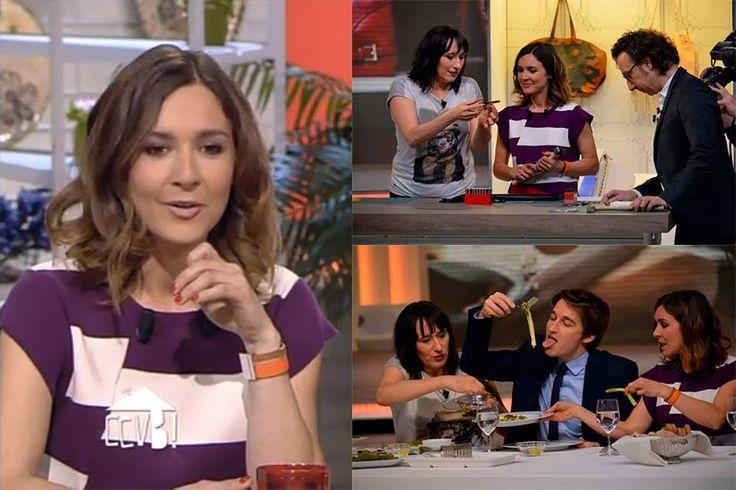 Emmanuelle Boidron porte la manchette JIL Hipnotic Coral lors du tournage de l'émission '' Comment ça va bien ''du 19.03.2015