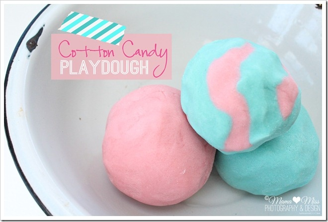 Cotton Candy Playdough.