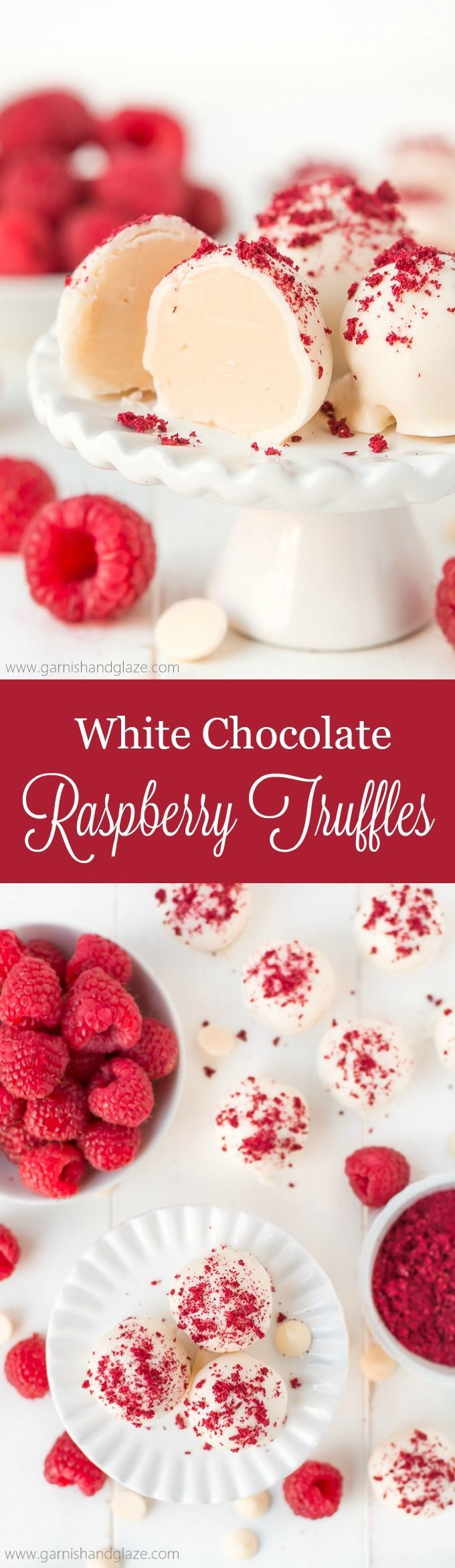 With just 5 ingredients, make the most amazing melt-in-your-mouth White Chocolate Raspberry Truffles to delight in this holiday season. @InDelight #HolidayDelight #IDelight
