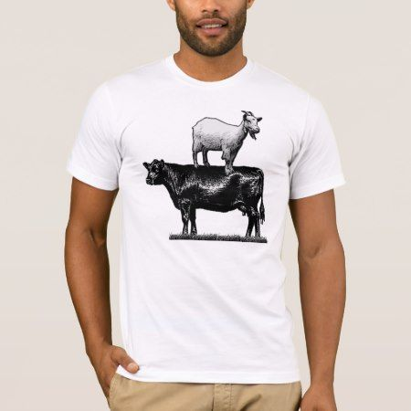 Goat on Cow T-Shirt - tap to personalize and get yours