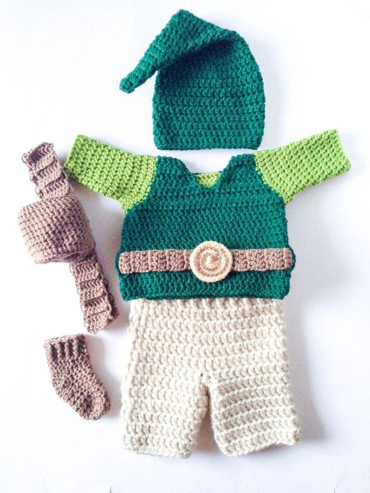 Crochet baby link from legends of Zelda