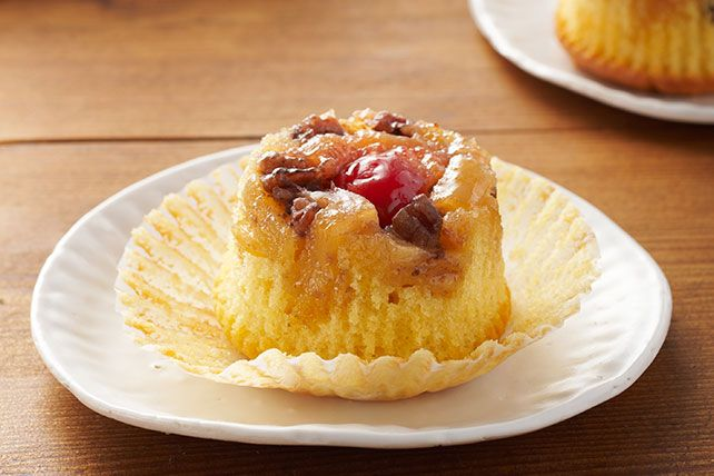 Forget the frosted cupcakes, and say hello to Pineapple Upside-Down Cupcakes. Fruit and lemon cake make these Pineapple Upside-Down Cupcakes a crowd-pleaser.