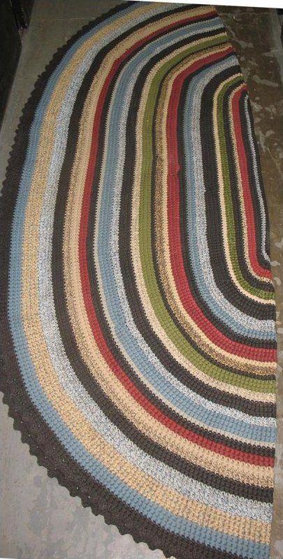 Oval Rug - AllFreeCrochet.com - Free Crochet Patterns, Crochet