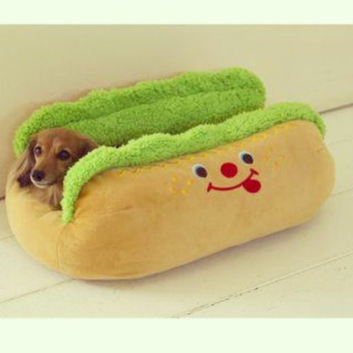 Amazing dachshund bed!!! I think Phil & Hunju should get on of these for mini-me . It's perfect!