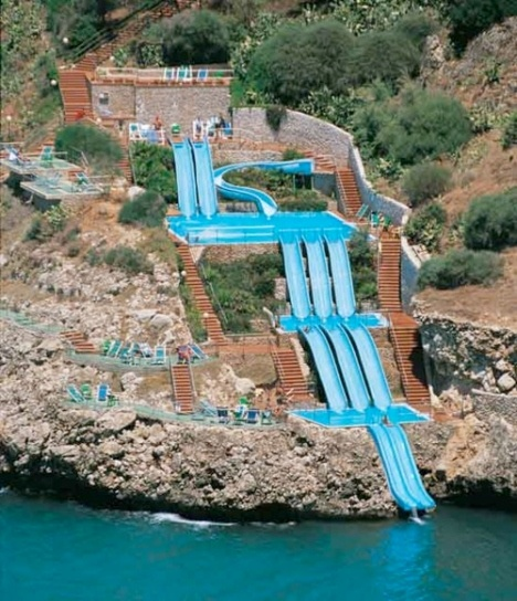 Cita Del Mare - Hotel in Sicily, Italy.  Slide right into the Mediterranean Sea...damn