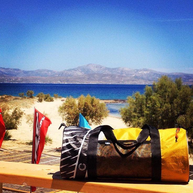 Escape to the coast! #unique #handcraft #beachbag #used #reused #recycle #upcycling #upcycled #urban #customize #parosurfclub #parosurfshop #tserdakia #paros #summer #colorful #shopping #madeingreece #windsurfing #sails #kiteboarding