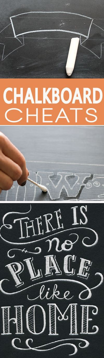 Before you do any chalkboard art, learn how to make it look professional with these easy cheats for drawing on chalkboard