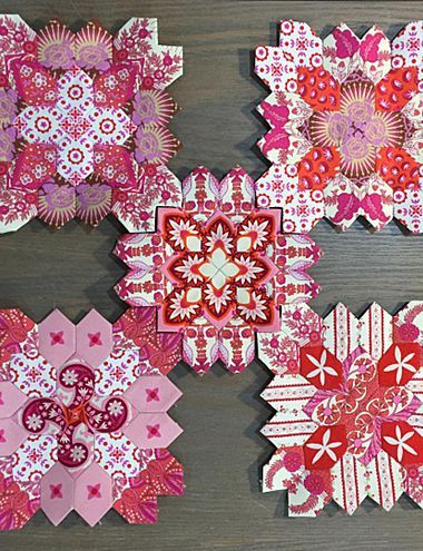 LUCY BOSTON VALENTINE EPP QUILT KIT by Alewives Fabrics.