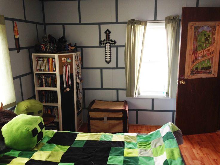 DIY Minecraft Bedroom! | Shadowbinders