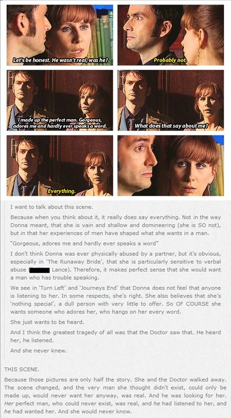 Alright, just yes. I'll be crying if anyone needs me. There was so much Donna needed to know.