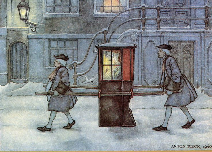 S is for Snowy Sedan Chair (Anton Pieck,1940)