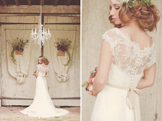 Chic Special Design Wedding Dress ♥ Lace Wedding Dress