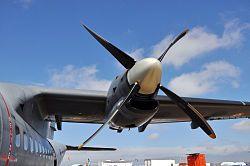 CN-235. Barquilla del motor General Electric CT7-9C y hélice Hamilton Standard 14RF-37.