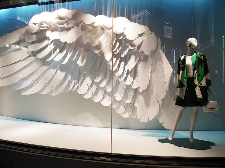 """WAKO GINZA,Tokyo,Japan,  """"Spring Gives You Wings"""", light,summery and refreshing,,pinned by Ton van der Veer"""