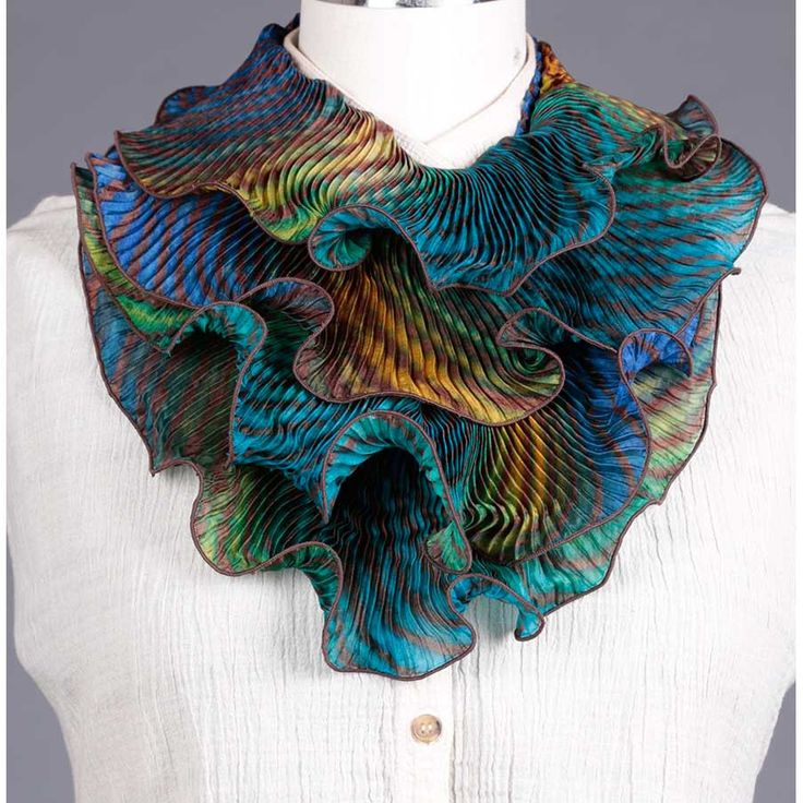Cashmere Silk Scarf - Abstract Polygons Blue by VIDA VIDA 7S5VbG8ItL