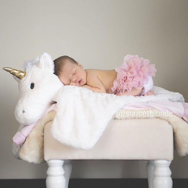 Little Princess, 9 days old. Unicorn playmat from Pottery Barn Kids, Tutu made by my friend @hesperyogastudio. Photo by @jazminmonetphotography #newborn #potterybarnkids #newbornphoto #unicorn