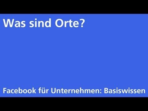 Facebook: Was sind Orte?