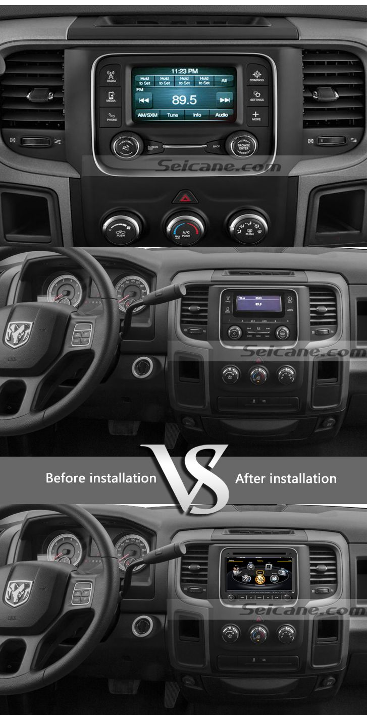 2013 2014 DODGE RAM 1500 2500 3500 4500 car  stereo upgrade sat nav bluetooth  learn more ,please visit http://www.seicane.com/2013-2014-2015-dodge-ram-1500-2500-3500-4500-replacement-stereo-system-gps-radio-navigation-3g-wifi-radio-dvd-bluetooth-ipod-iphone-usb-sd