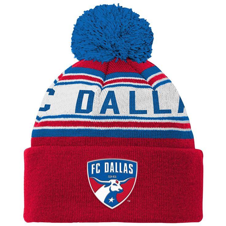 FC Dallas MLS Youth Boys Cuffed Knit Hat With Pom, Price: $15.28