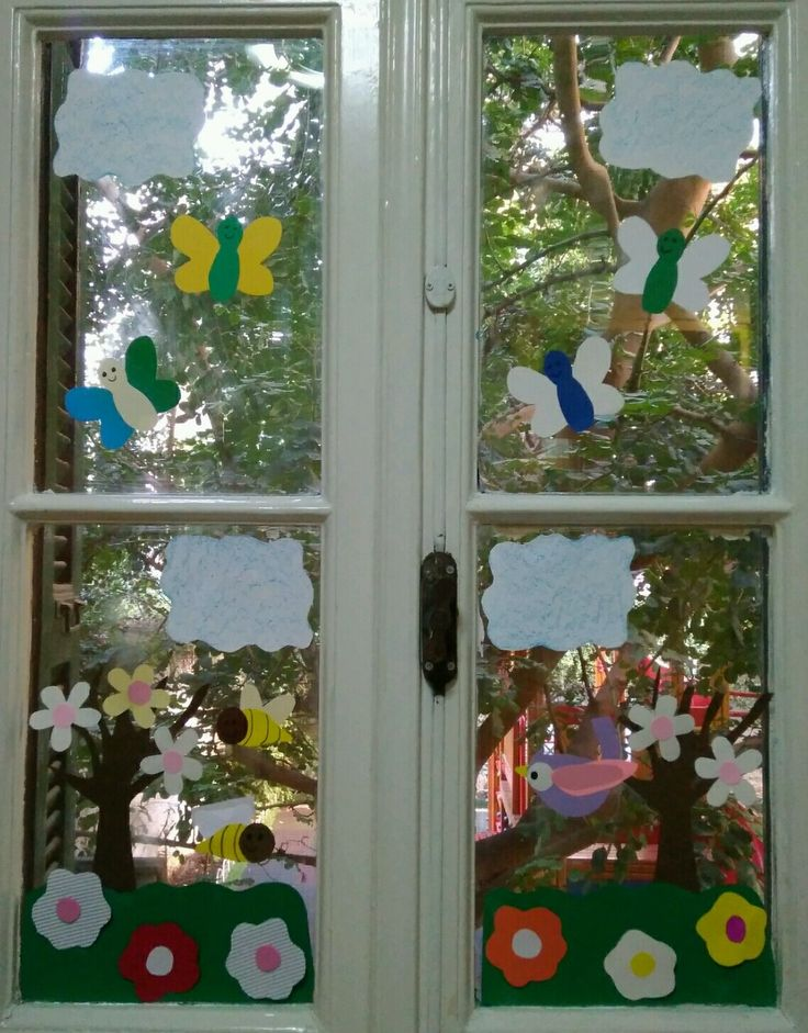 Άνοιξη // διακόσμηση τάξης // παράθυρα // spring // class decoration // windows