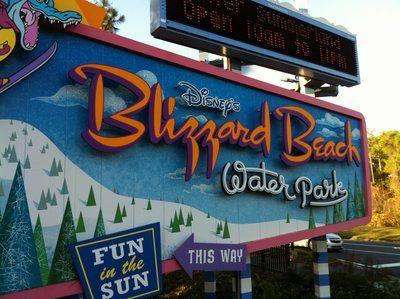 Disney's Blizzard Beach sign #disney #imagineering