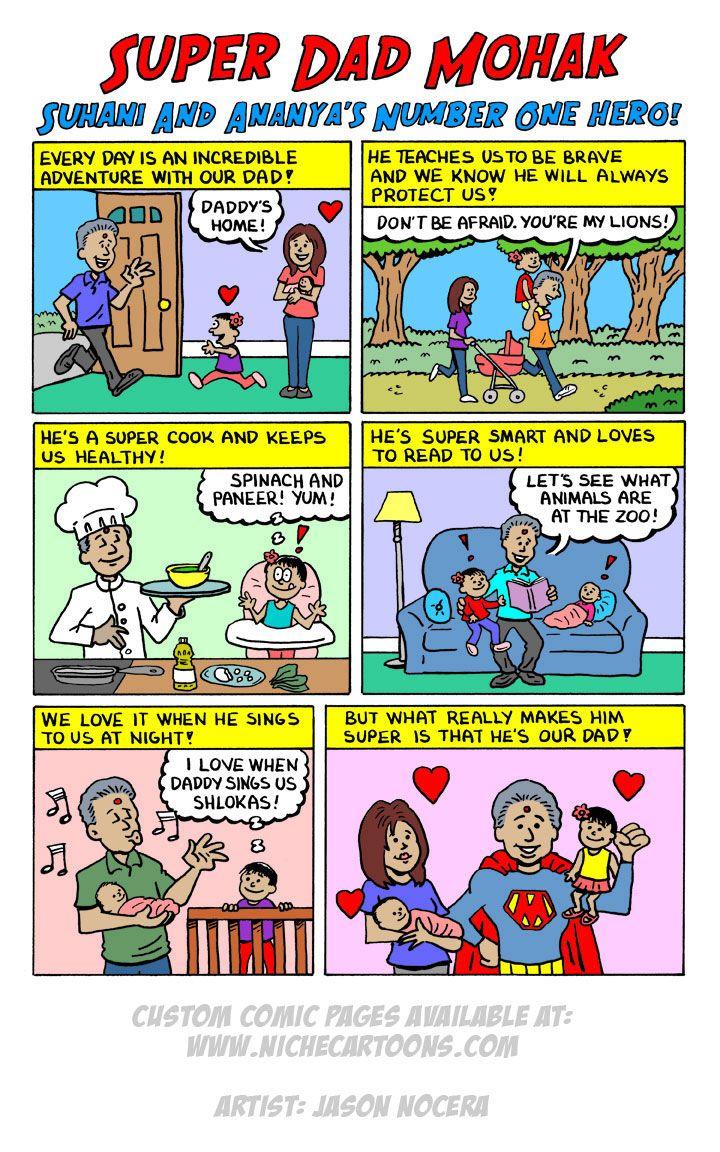 93678d281afe Super Dad Custom Comic Page Gift.  fathersdaygiftidea  superdads   customcomicpage  comicart  personalizedcomic  customcomic  customart ...