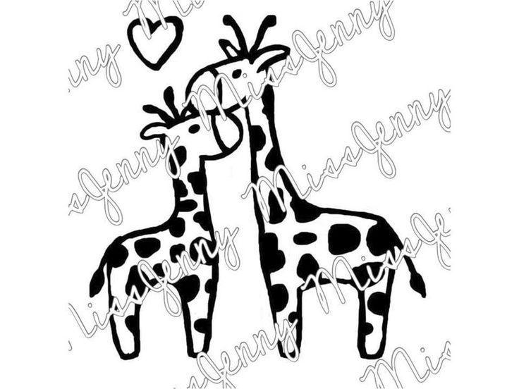 """Bügelbild+""""Giraffenliebe""""+von+MissJenny+auf+DaWanda.com"""