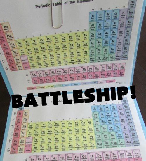 Aprender la tabla periódica jugando a Hundir la Flota » No Puedo Creer