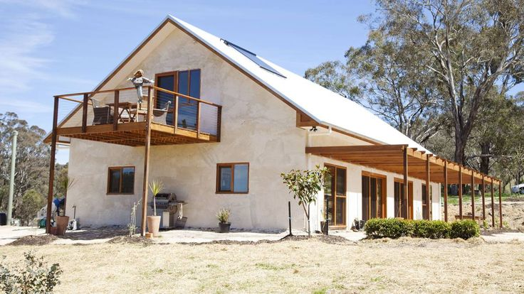 GORGEOUS: This beautiful, modern two-storey straw bale home in Bathurst is a truly sustainable building.