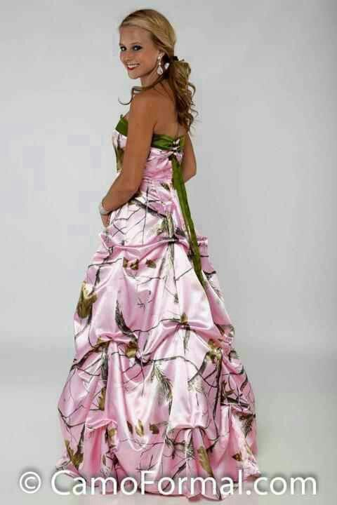 Pink camo wedding dresses pinterest pink camo prom for Wedding dresses camouflage pink