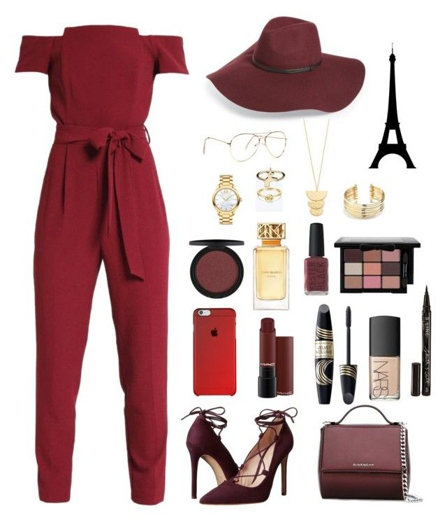 """""""Red glamour❤️"""" by han-nastya on Polyvore featuring мода, Miss Selfridge, Massimo Matteo, Givenchy, Halogen, Movado, Max Factor, NARS Cosmetics, Tory Burch и Kester Black"""