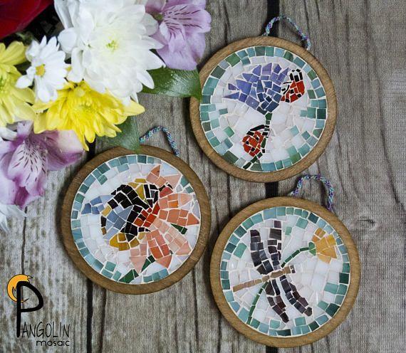 Coaster set Wooden Coasters Mosaic Coasters Mosaic Wall