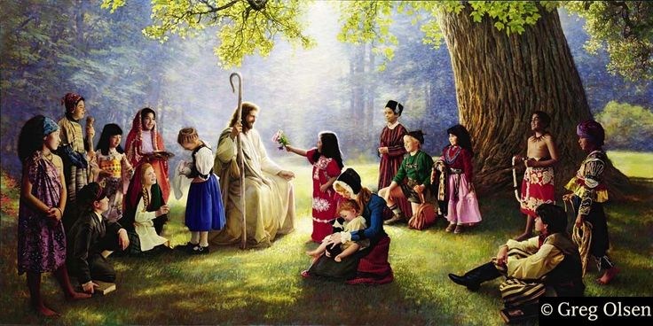I LOVE this picture of Christ with children from all around the world. We are all God's children.