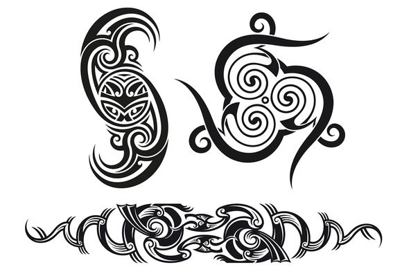 Tribal tattoo patterns (3x) by artefy on Creative Market