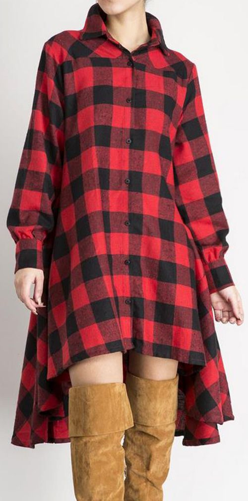 This plaid dress is the record for beauty! Its print is really stunning! Plus, you really can't get any more gorgeous than that fit! Get you in with it at Cupshe.com or search more at Cupshefashion profile!