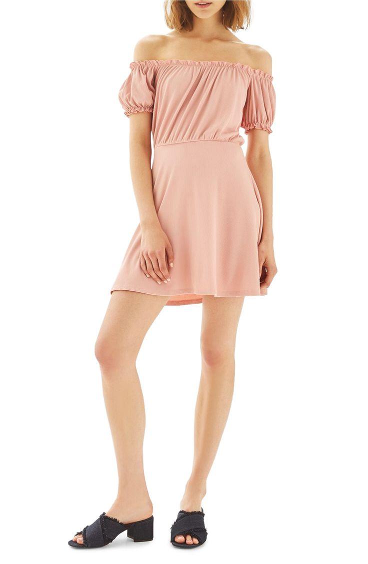 Main Image - Topshop Bardot Skater Dress