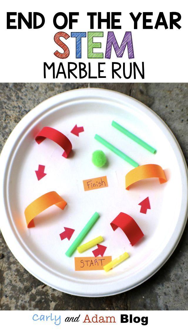 5 End Of The Year Stem Activities Design A Marble Run Elementary Stem Activities Preschool Stem Stem Elementary
